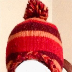 Accessories - Orange, Purple & Dark Red, Fleece Lined Beanie